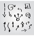 Arrow sketch collection vector image