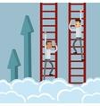 businessman climbing ladder icon vector image