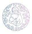 concept of motherhood vector image