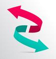 Double Arrow 3D Logotype Symbol vector image