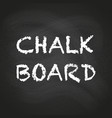 empty black chalkboard vector image
