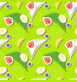 green seamless pattern with berries and palm leave vector image