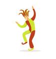 jester dancing european medieval character in vector image