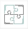 Puzzle blank template or cutting guidelines vector image