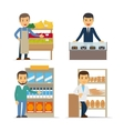 Seller at the counter vector image