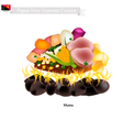 Mumu A Traditional Papua New Guinean Maori Food vector image vector image