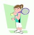 tennis player cartoon vector image