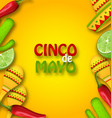 cinco de mayo background with mexican traditional vector image