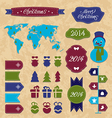 Set Christmas Infographic design elements group vector image vector image