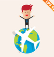 Business man standing on earth- - EPS10 vector image vector image