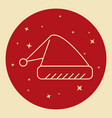 santa hat icon in thin line style vector image