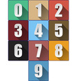 3d Numbers with Long Shadows vector image