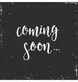 Coming Soon Conceptual handwritten phrase vector image