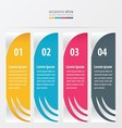 banner design 4 item yellow blue pink color vector image
