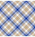 blue gold tartan seamless pattern vector image