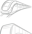 Bus Train Outline vector image
