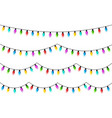 christmas glowing lights on white background vector image
