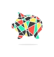 colored broken piggy bank with shadow vector image