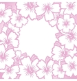 Decorative pink floral frame vector image