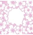 Decorative pink floral frame vector image