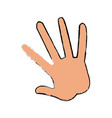 hand human showing five finger vector image