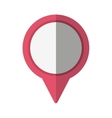 pointer location pin isolated icon vector image