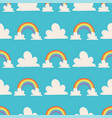 rainbows background nature vector image