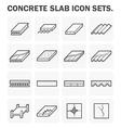 Slab icon vector image