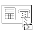 Cardiograph icon outline style vector image