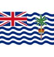british indian ocean territory flag vector image