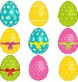 pixel easter eggs vector image vector image