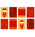 Collection of Chinese New Year banners vector image
