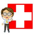 doctor Switzerland Flag vector image