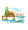 rest fishing design vector image