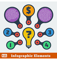 metaball flat infographic 5 vector image vector image