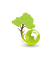 eco globe vector image