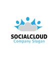Social Cloud Design vector image