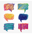 Colorful speech bubbles set vector image