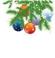 Christmas fir branches vector image