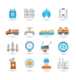 Gas Icons Set vector image