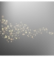 Gold glittering star dust trail EPS 10 vector image