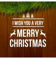 Merry Christmas design typography lettering vector image