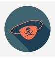 Pirate icon eye-patch with jolly roger Icon with vector image