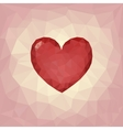Plygon heart on triangle background Love symbol vector image