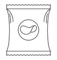 potato chip icon outline style vector image