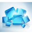 abstract background ice cubes vector image vector image