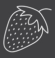 strawberry line icon fruit and diet vector image