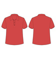 Red shirt vector image