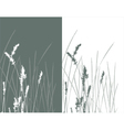 real grass silhouette 2 colors vector image vector image
