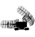 Silhouette military radar dish vector image